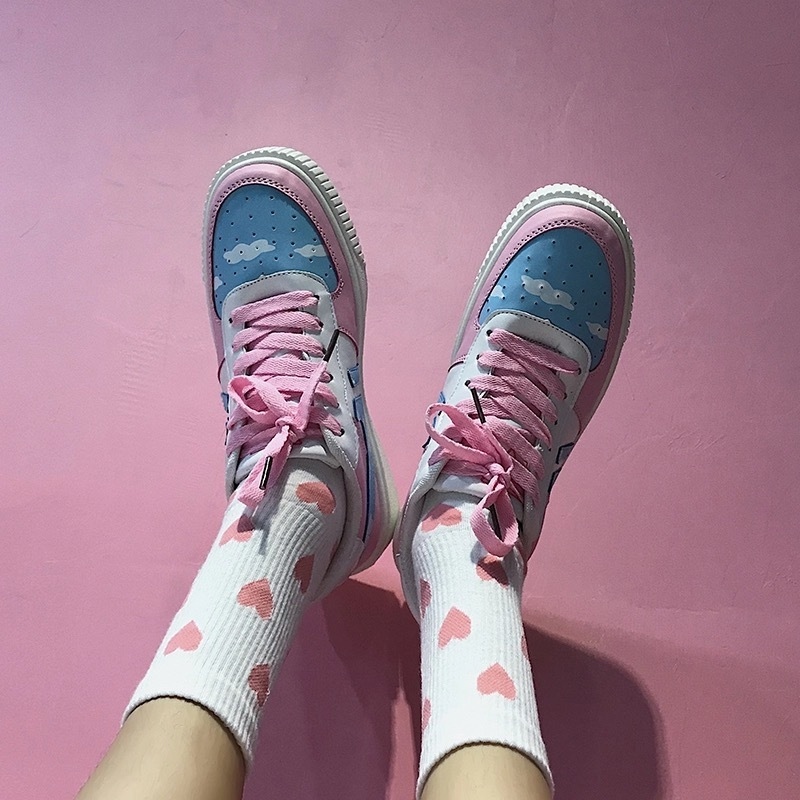 2020 Spring And Autumn Japanese Women's Single Shoes Korean Fashion Cute Flat Vulcanized Shoes Harajuku Students Wild Sneakers 2