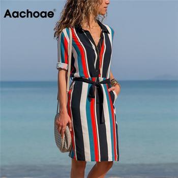 Patterned V-Neck Summer Dress