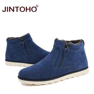 Image 2 - JINTOHO موضة جديدة الشتاء حذاء رجالي أحذية الثلوج غير رسمية رخيصة الشتاء الرجال الأحذية جلد الغزال أحذية للرجال الشتاء الدافئة أحذية رياضية