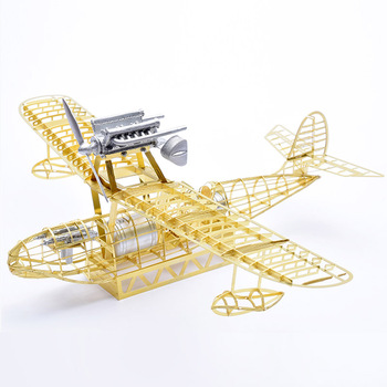 1/48 Miyazaki hayao Porco rosso Savoia S.21 FG1 Seaplane Brass PE Detail Model DIY Puzzle 3D Assembly Metal Structure Model Gift