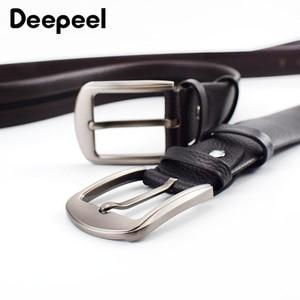 Image 4 - Deepeel 1pc 110 130cm שכבה הראשונה עור פרה גברים חגורת זכר מעצב רוכסן חגורות חידוש יוקרה קישוט החגורה יכול לשים כסף