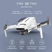 FIMI X8 Mini 3-AxisCamera Drone 250g-class 8km 4k Professionelle Quadcopter GPS Fernbedienung Hubschrauber Flug Zeit 30 Minuten