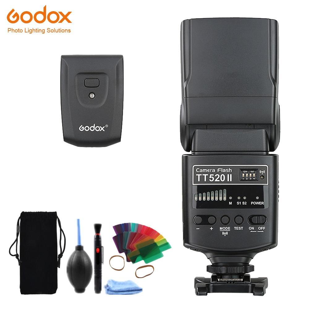 GODOX TT520II GN33 Flash Speedlite + Émetteur Pour Canon EOS 1300D 800D 750D 760D 700D 650D 100D 80D 77D 60Da 5Ds Flash