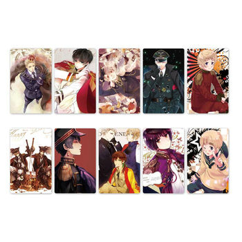 10pcs New Arrived Anime Axis Power Hetalia Card Stickers DIY Waterproof Scrub Card Sticker Kids Sticker Toys цена 2017