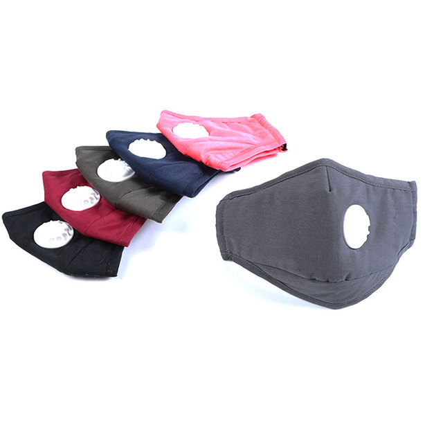 Tcare Fashion Cotton Face Mask Respirator Washable Reusable Mouth Masks + 2Pcs Activated Carbon Filter PM2.5 for Men Women 3