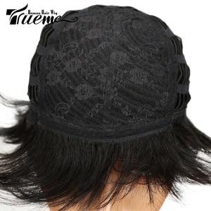 Image 5 - Truemeナチュラルダークブラウン赤ワイン色人毛 100% かつら黒人女性のためのピクシーカットフルかつらレミーブラジルの髪