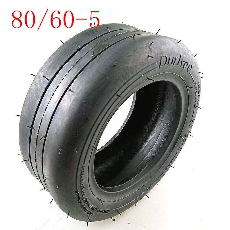 80/60-5 pneu à vide tubeless pour XiaoMi 9 voiture déquilibrage pneu à vide de roue avant de kart de 8 pouces