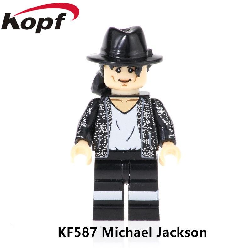 KF587 Single Sale Action Figures Michael Jackson Shanks Sabo Chiba Mamoru Building Blocks Education Gifts Toys For Children