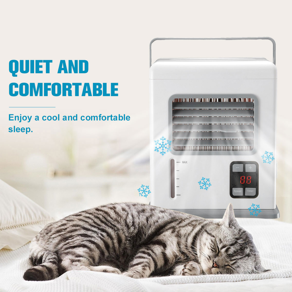 Portable Handheld Air Conditioner Conditioning Rechargeable USB Mini Air Cooler Digital Display Air Cooling Fan For Office Home