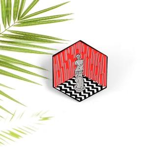 QIHE ювелирные изделия, эмалированные булавки для лацкана в стиле мультфильмов, музыки, скульптуры, броши, значки, булавки, подарки для арт-дру...