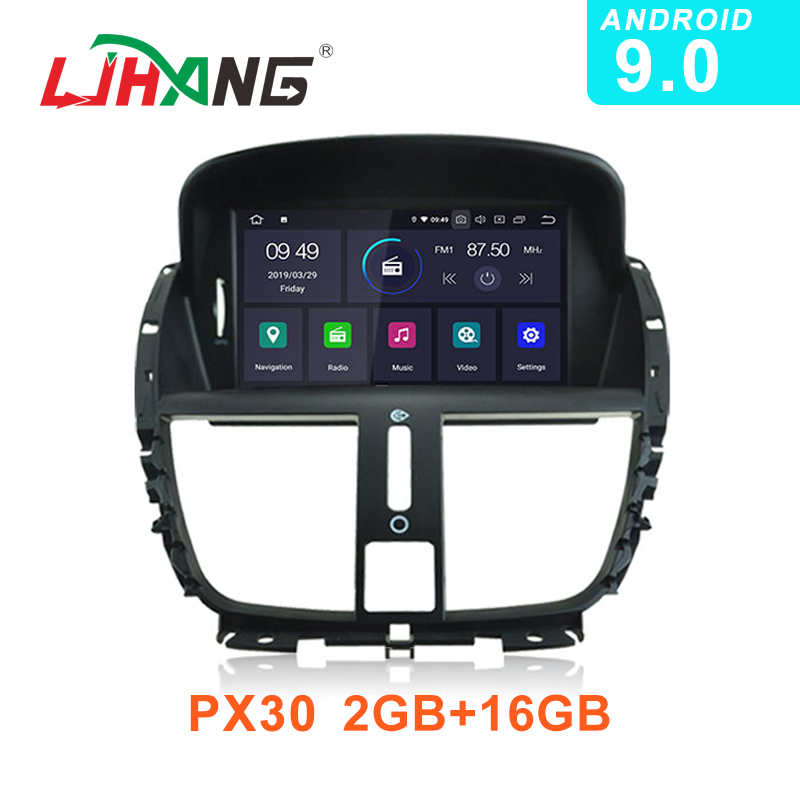 LJHANG Android 9 0 Car Radio Multimedia Player For Peugeot 207 2008 2011 2012 2013 2014