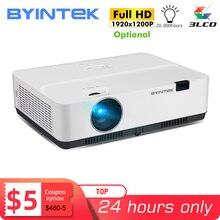 BYINTEK proyector inteligente K400 K500 K600, dispositivo para cine en oficina, Full HD, 1080P, 3LCD, 300 pulgadas, 4K, 3D, Android 10 opcional
