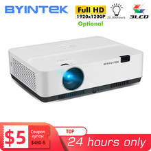جهاز عرض سينمائي من byintk طراز K400 K500 K600 عالي الدقة 1080P 3LCD لألعاب ضوء النهار وجهاز عرض سينمائي مكتبي ثلاثي الأبعاد بدقة 4K (صندوق تلفاز بنظام أندرويد 10 اختياري)