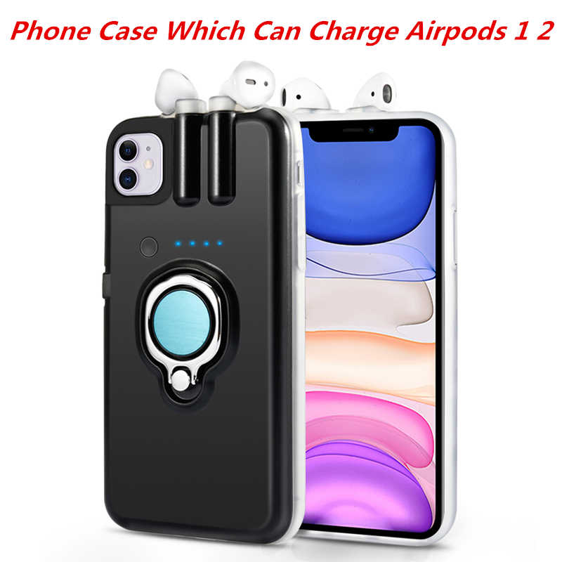 For iPhone 11 11 Pro 11 Pro Max Case Xs Max Xr X 8 7 6 6s Plus Finger Ring Holder Case For AirPods Charging Case Dropshipping