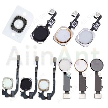 Home-Button Flex For iPhone 6 6s 7 8 Plus 5s SE Return Back Home Button With Cable Rubber Sticker No Touch ID Fingerprint