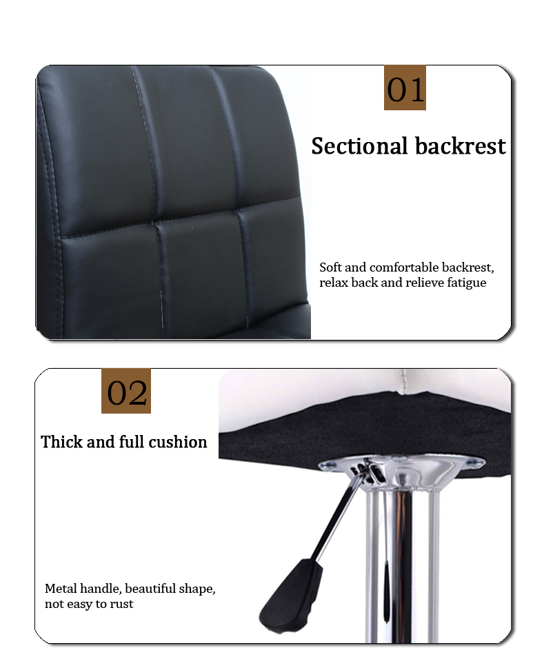 Hot DealsSOKOLTEC Kitchen Chair Counter-Stool Adjustable Swivel Height Contemporary Fast-Dispatch