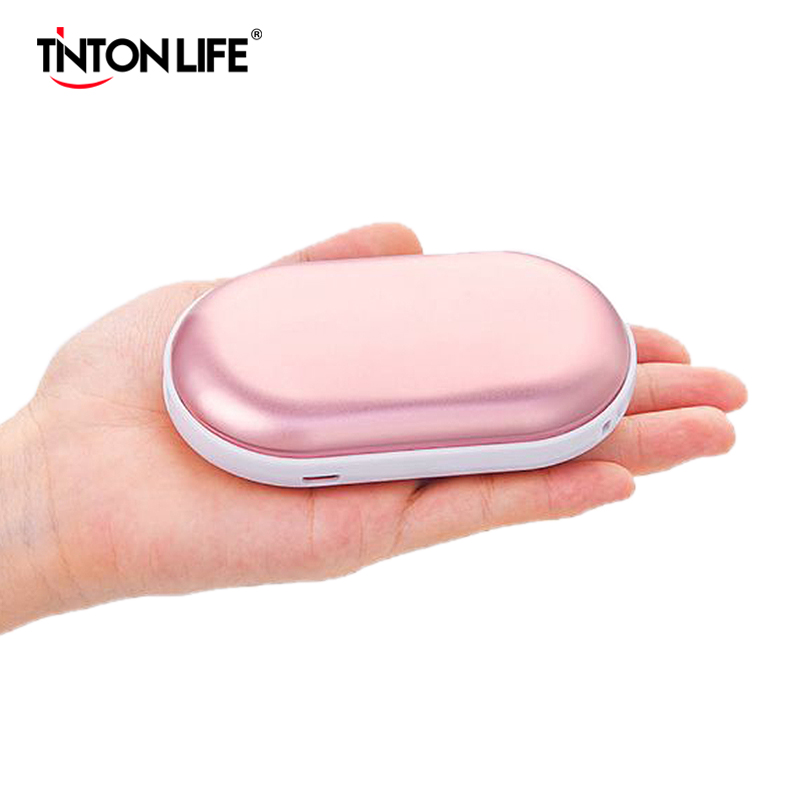 5200mAh 5V Mini Cute USB Rechargeable LED Electric Hand Warmer Heater Travel Pocket Warmer Home Warming  Power Bank 2 In 1