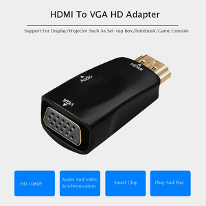 Image 2 - Roreta HDMI to VGA Adapter Audio Cable Converter Male to Female HD 1080P For PC Laptop TV Box Display Projector