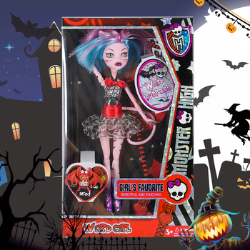 19 new fashion dolls cool tattoos monster toy high school dolls with tail 30cm joints hands and feet pattern 4pcs lot new style monster inc high doll monster christmas gift wholesale fashion dolls