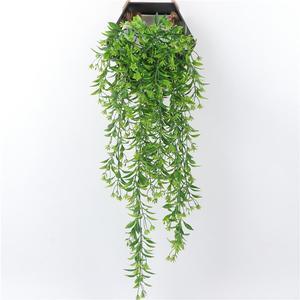 Plantas de enredadera Artificial, guirnalda de hojas verdes de hiedra, uva de algas artificiales, decoración para pared de jardín y hogar