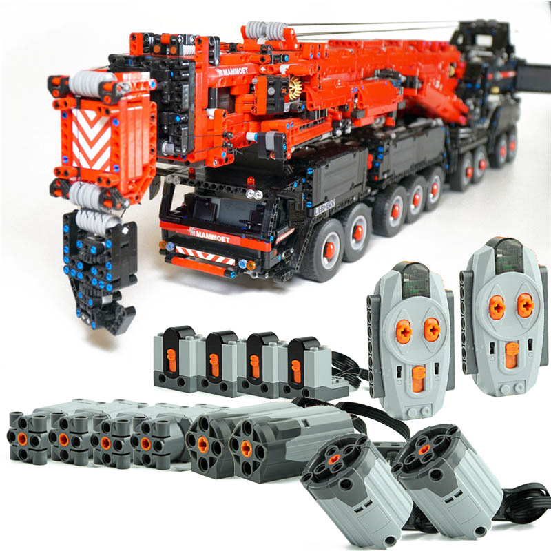 NEW Power Mobile MOC-20920 Liebherres LTM11200 Large Engineering Crane Remote Control  Building Blocks Toys Boy Gifts