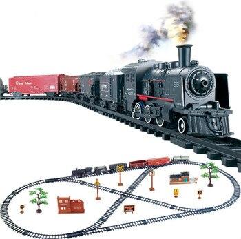 Trains électriques classiques Vihcle chemin de fer motorisé ensemble de voies triennes modèle jouet enfants jouets pour enfants.