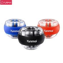 3 색 원래 Yunmai 손목 볼 트레이너 LED Gyroball 필수 회 전자 자이로 스코프 팔뚝 연습기 자이로 볼 감압