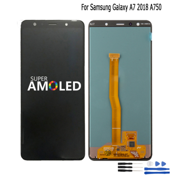 Original For Samsung Galaxy A7 2018 A750 A750F SM-A750F A750FN A750G LCD Display+Touch Screen Digitizer Assembly Free Tools tft a750 lcd for samsung galaxy a7 2018 lcd sm a750f a750f a750 display with frame touch screen digitizer replacement parts