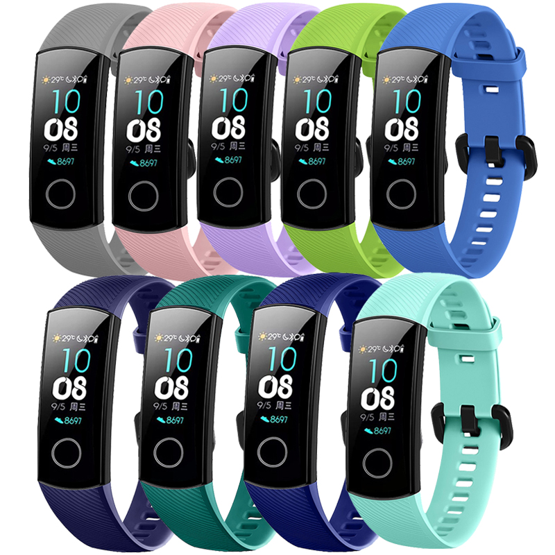 For Original Huawei Honor Band 4 NFC Smart Watch Bracelet Silicone Sport band for 5 Strap Correa