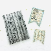A5size Diy Wood Fiber Texture Clearstamp Seals Transparent Silicone Stamps for Scrapbooking Cardmaking Journaling Decorations