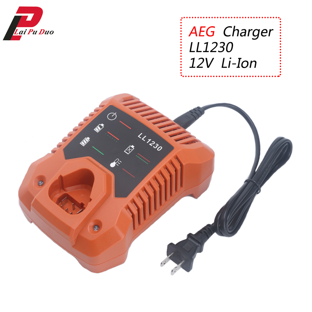 For AEG 12V Li-Ion Power Tool Battery Charger BS12C2, BSS12C,BS12C, BLL12C, BBH12 , Battery L1215, L1230, L1215P L1215R R86048