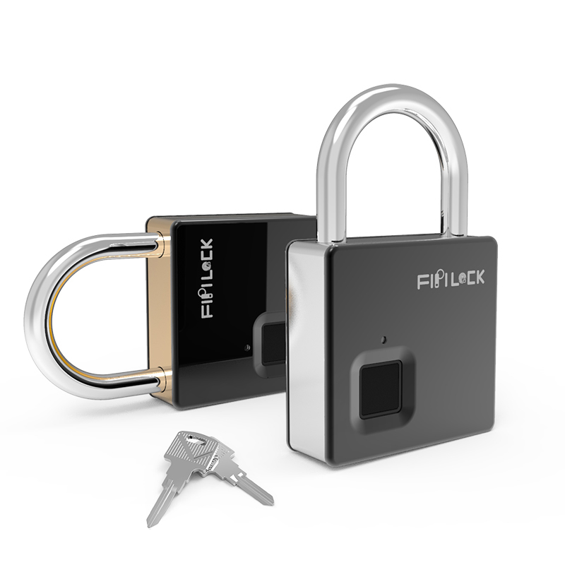 Fipilock Smart Lock Keyless Fingerprint Lock IP65 Waterproof Anti-Theft Security Padlock Door Luggage Case Lock With Key & Cable