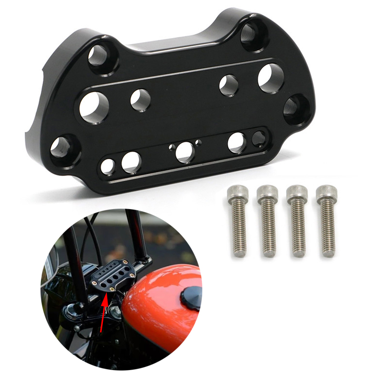 Details about  /Black Indicator Light Top Clamp Fits For  95-up Sportster Dyna New