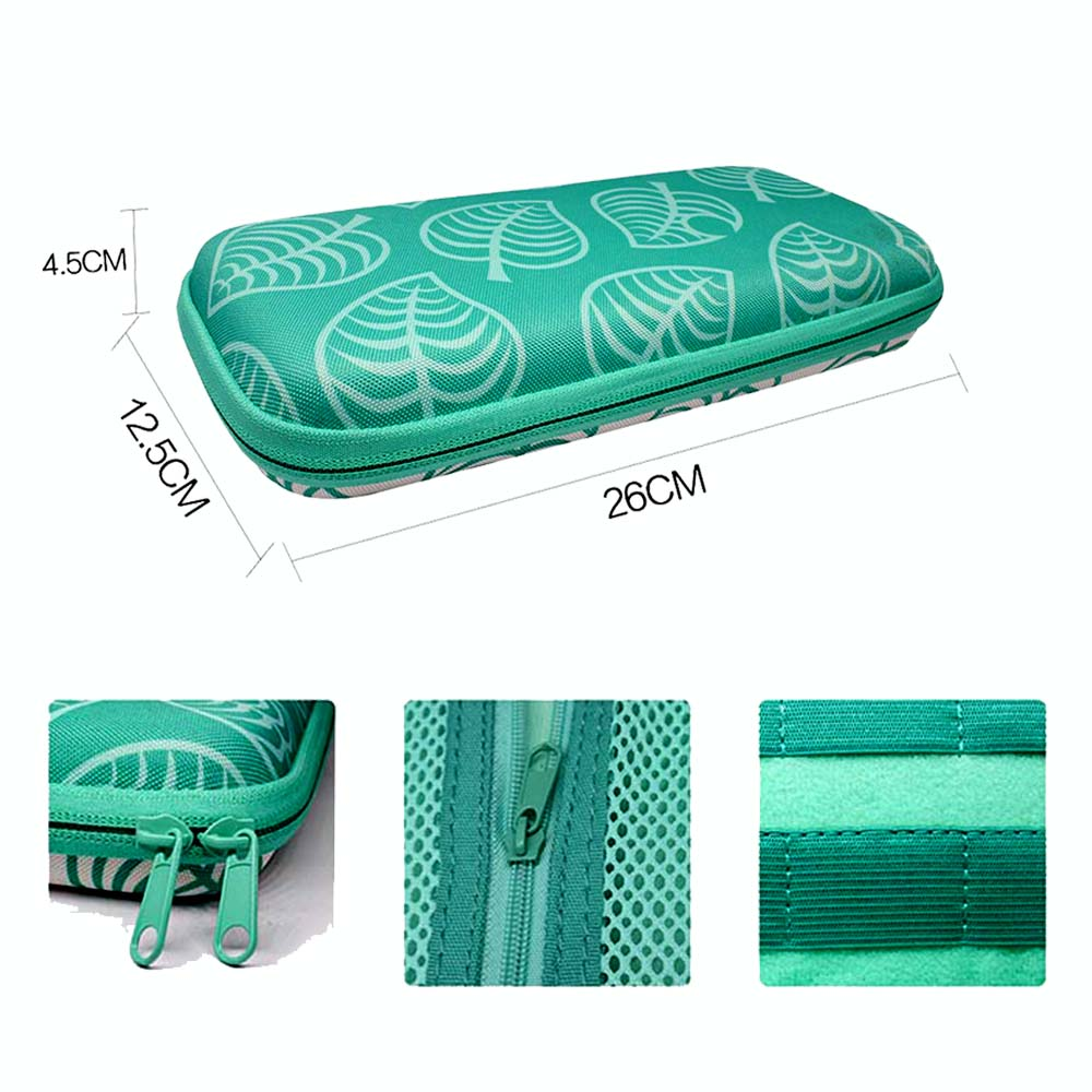 Animal Crossing Game Accessory Set For Nintendo Switch Travel Carrying Bag Protector Case Thumb Stick Grip Caps Charging Cable 3