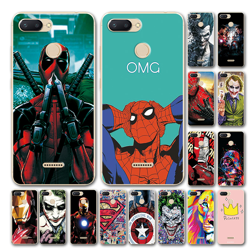 YOUVEI Novelty Superhero Phone Case For Xiaomi Redmi 6 Cover Redmi 6A Marvel Avengers Silicone Case Bumper For Xiomi Redmi 6 Pro