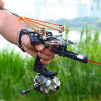 Tirachinas de tiro para pesca, arco y flecha, potente compuesto de pesca, captura de peces, caza de alta velocidad, 2020