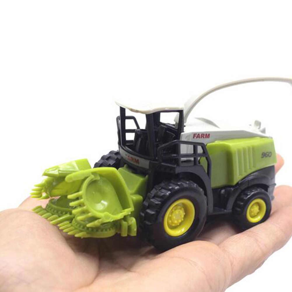 すべてファームトラクターセットグレートプレイコレクションおもちゃ、ダイキャストメタル車車モデルプラスチック部品、作物カッタース植物
