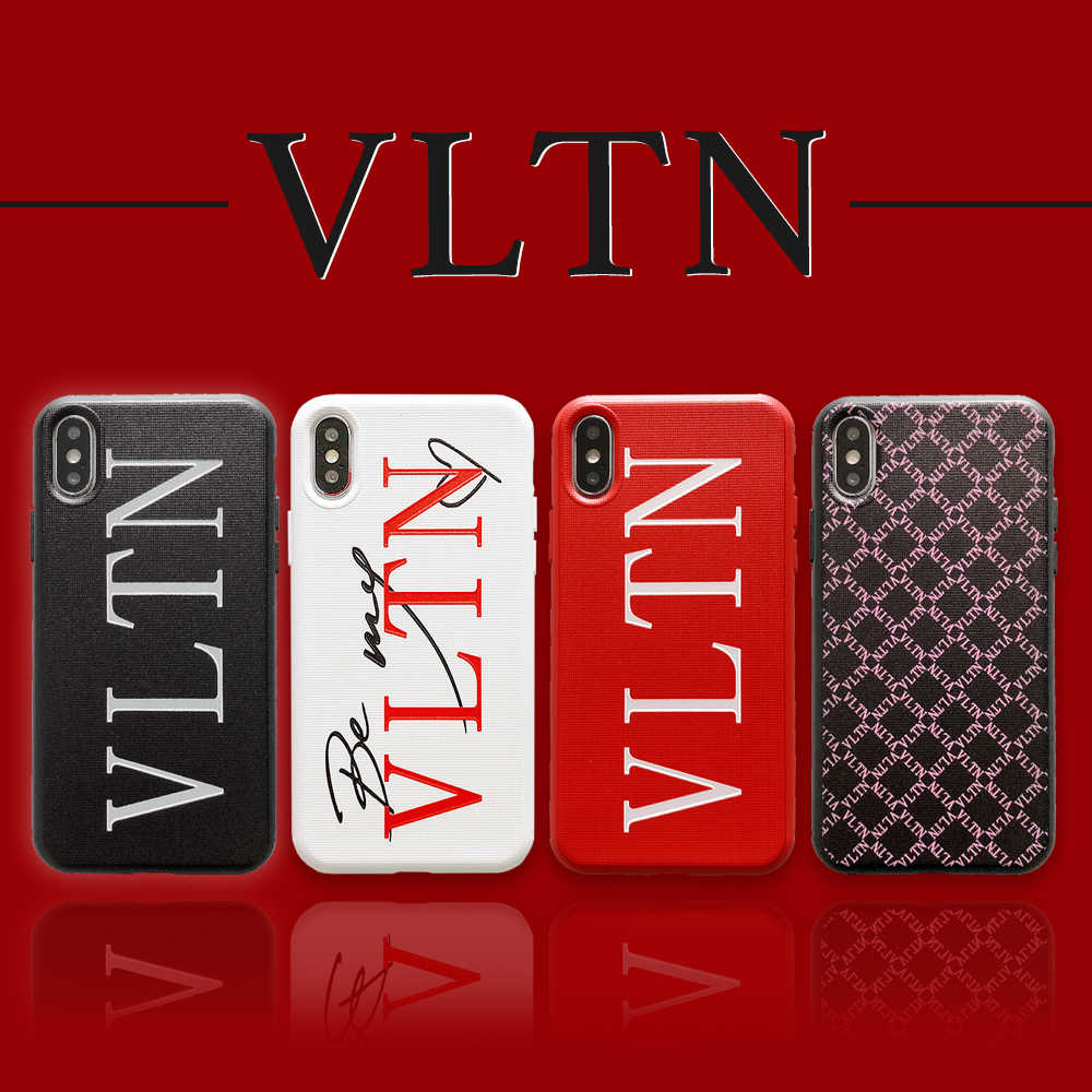 Tide brand Simple letter VLTN Phone Cover Case For Iphone X 11 pro Xs Max Xr 10 8 7 6 6s Plus Couple Soft silicone Coque Fundas