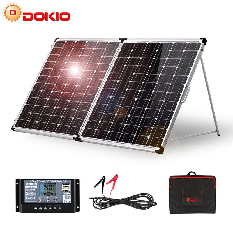 Dokio 100W 160W 200W Foldable Solar Panel China 10A/20A 12V Controller folding solar panel Cell/System Charger Solar Panel|solar panel monocrystalline|monocrystalline siliconpanel solar - AliExpress