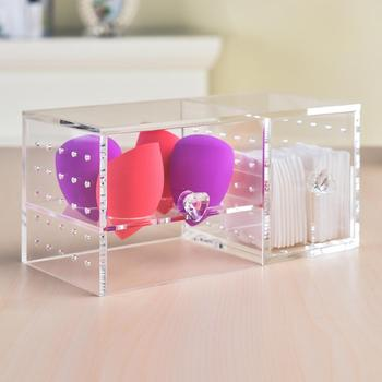Acrylic Makeup Sponge Holders Puff cotton pad Stand Egg Sponge Drying Holder Makeup organizer Storage Puff Cosmetic Organizer 1