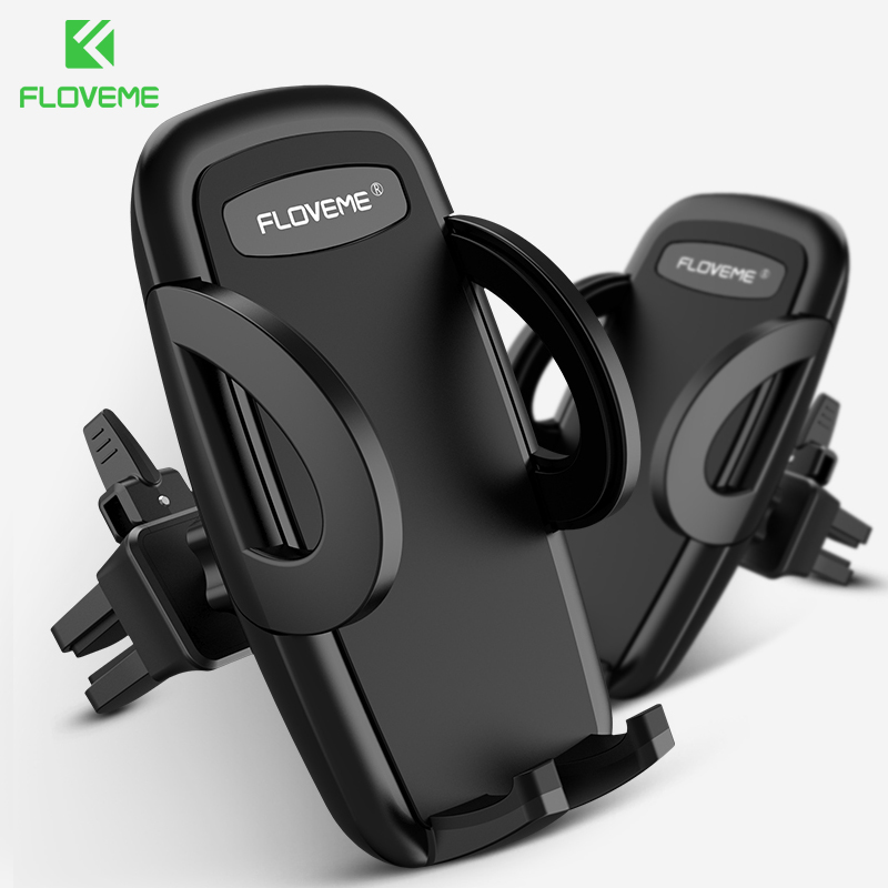 FLOVEME Car Cellphone Support Car Phone Holder Stand Soporte Universal Air Vent Mount In-Car Phone Holder For IPhone 11 7 X XR 6