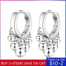 Codemonkey luz grânulo brincos pequenos argola brincos para mulheres engagment jóias presente cme448