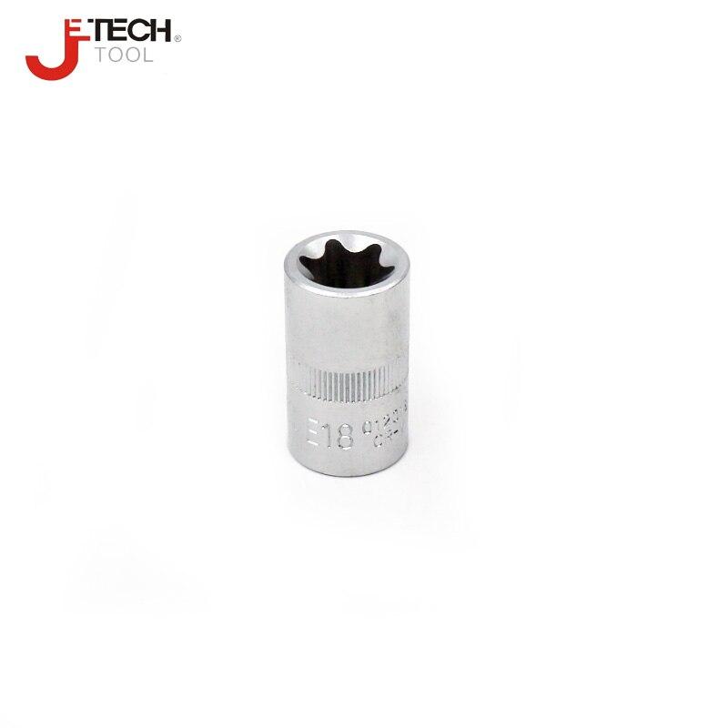 E22 E18 E12 Jetech 10PCS 1//2 Inch Drive Female E Torx Star Socket Set Heat-Treated Chrome Vanadium Steel E20 E24 with Steel Holder Rail Set Includes E8 E10 E16 E11 Made with Forged E14