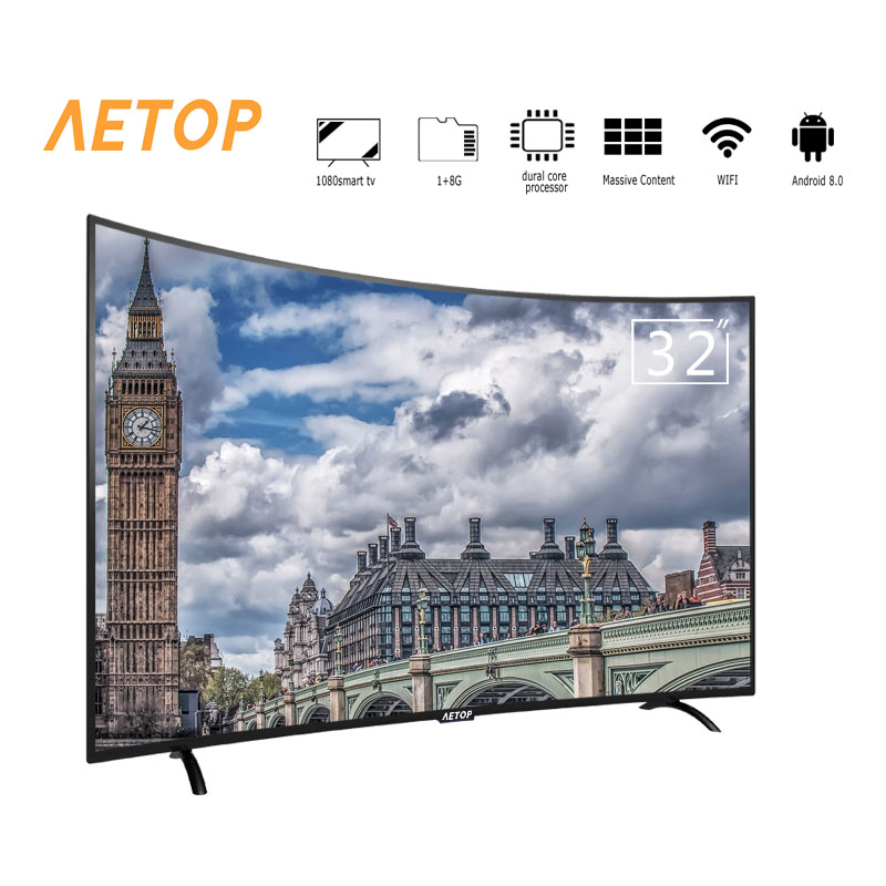 free shipping-Integrated Circuit <font><b>32</b></font> inch tv hd television android samrt tv curved with high quality image