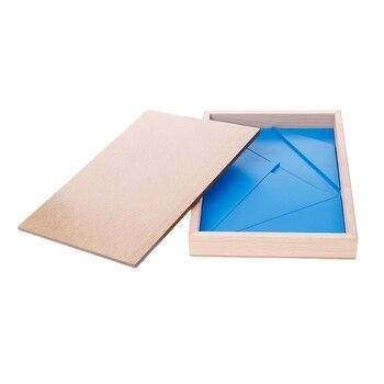 Montessori Wooden Material Toy Constructive Triangles Rectangular Pentagon 95AE