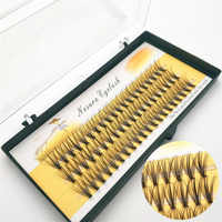 MJS 60 Eyelashes Bunches Single Eyelash Easy Fan Lashes 10D Cluster Eyelash Semi-finished Curl Fans Individual Eyelashes