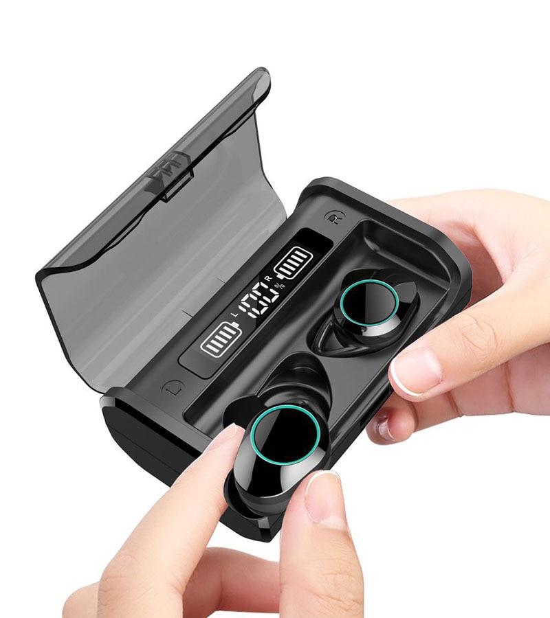 G06 AAC светодиодный Мощность Дисплей Беспроводной Bluetooth 5,0 наушники-вкладыши TWS с 3D стерео Шум шумоподавления сенсорная наушники с зарядным ус...