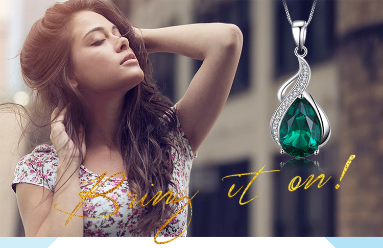 Hbdb919f6aaea465d9e6ea8fc380ea98el Jpalace Simulated Nano Emerald Pendant Necklace 925 Sterling Silver Gemstones Choker Statement Necklace Women Without Chain