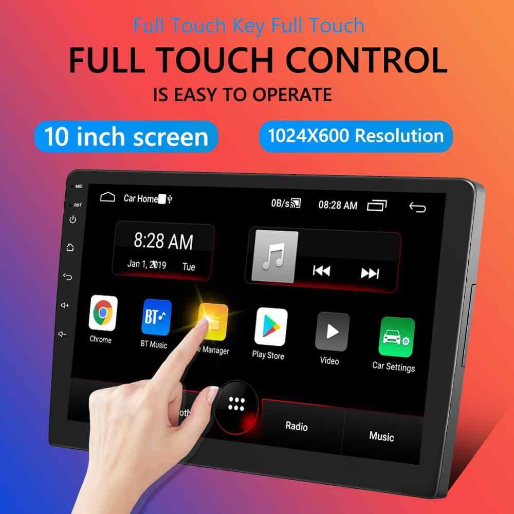 P9 çift DIN Android 9.0 araba Stereo GPS navigasyon Bluetooth WiFi FM radyo 10 inç IPS ekran Dash kafa ünitesi alıcı