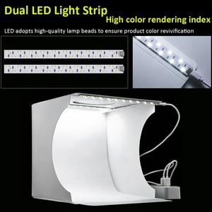 Image 3 - Folding Portable Photo Studio Box Dual LED Panels Photography Softbox with 6 Backdrops  light box Studio Shooting Tent Box Kit